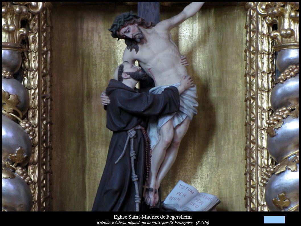 Eglise Saint-Maurice de Fegersheim Retable « Christ déposé de la croix par St-François» (XVIIe)