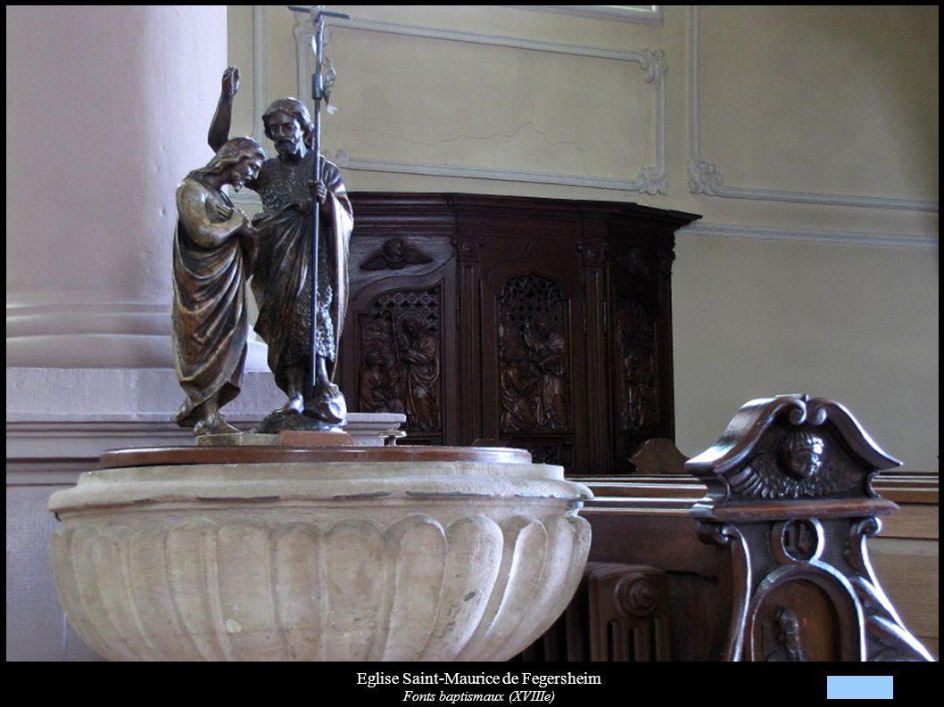 Eglise Saint-Maurice de Fegersheim Fonts baptismaux (XVIIIe)