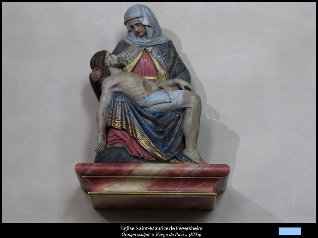 Eglise Saint-Maurice de Fegersheim Groupe sculpté « Vierge de Pitié » (XIXe)