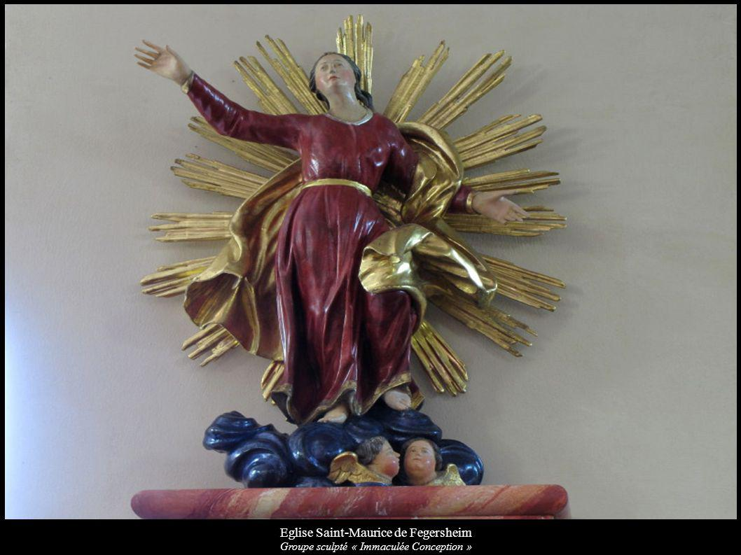 Eglise Saint-Maurice de Fegersheim Groupe sculpté « Immaculée Conception »