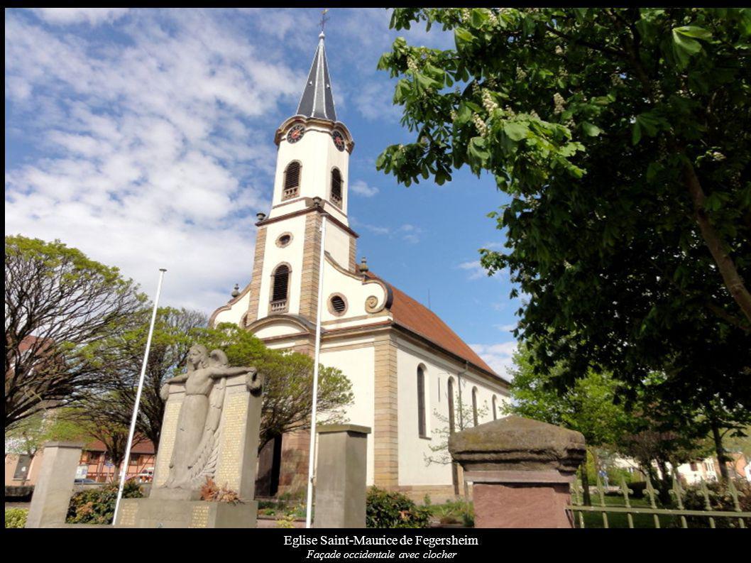 Eglise Saint-Maurice de Fegersheim Façade occidentale avec clocher