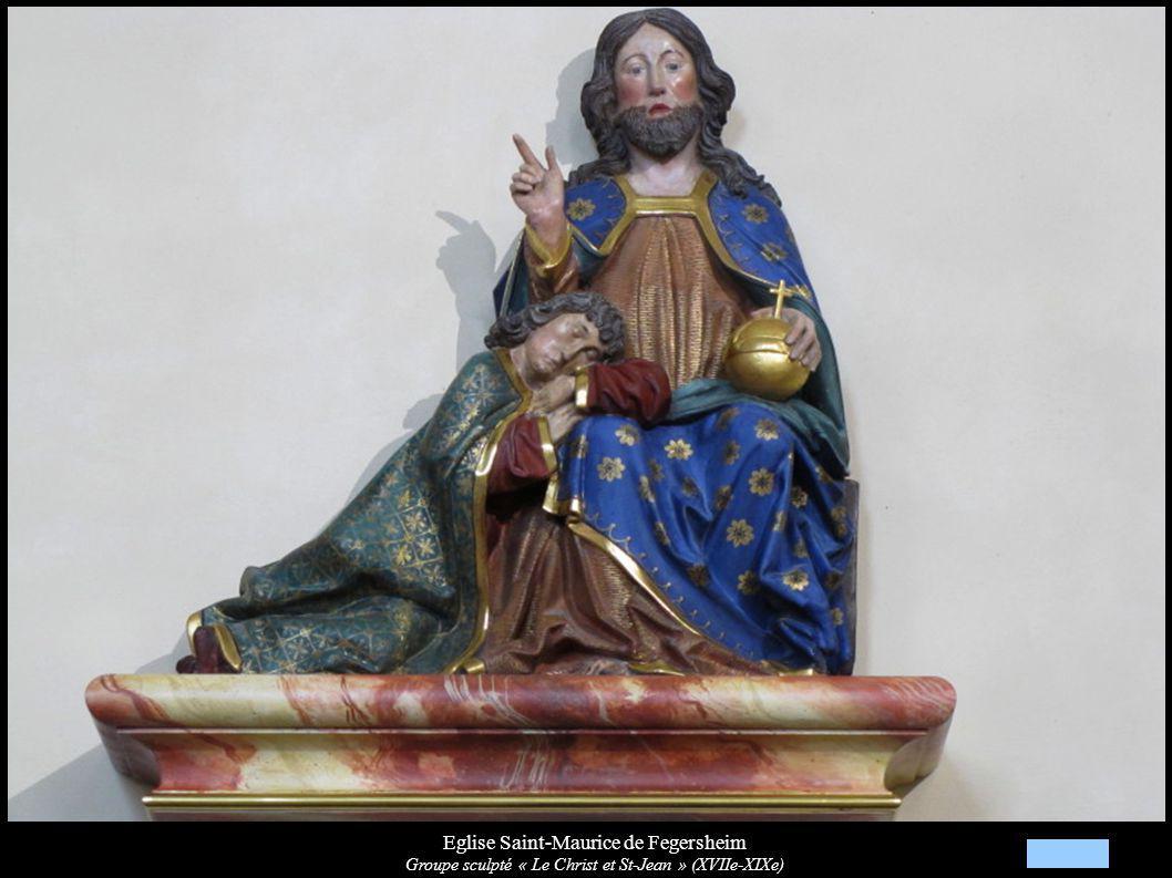 Eglise Saint-Maurice de Fegersheim Groupe sculpté « Le Christ et St-Jean » (XVIIe-XIXe)