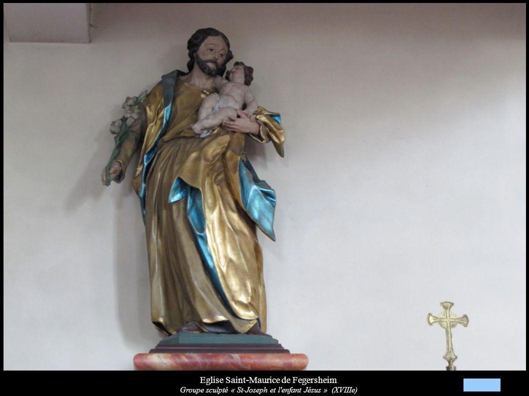 Eglise Saint-Maurice de Fegersheim Groupe sculpté « St-Joseph et l'enfant Jésus » (XVIIIe)