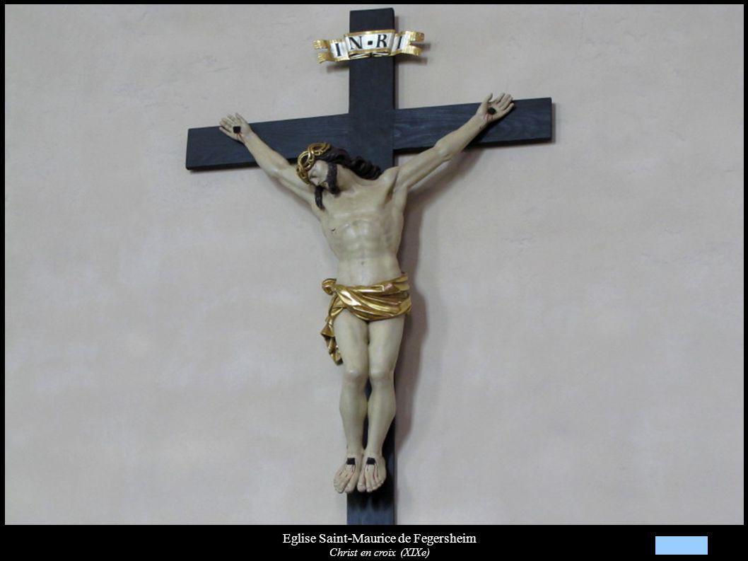 Eglise Saint-Maurice de Fegersheim Christ en croix (XIXe)