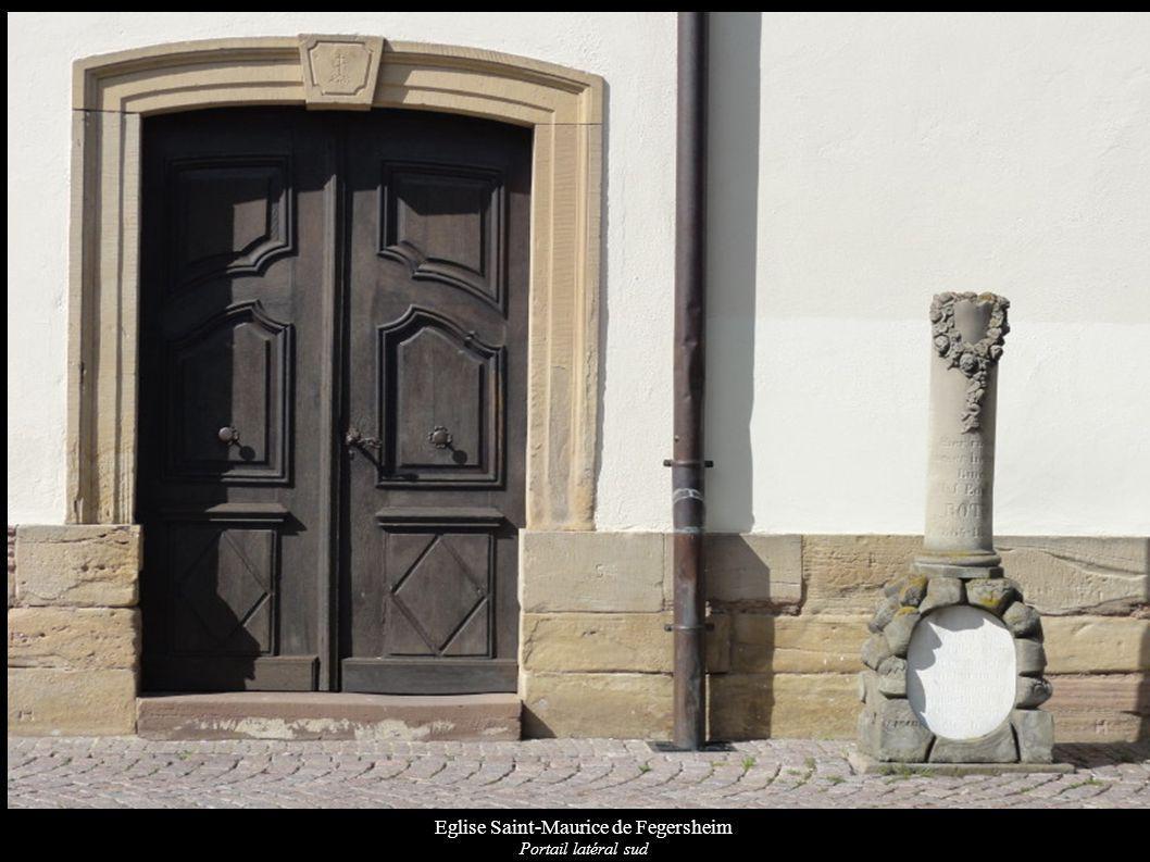 Eglise Saint-Maurice de Fegersheim Portail latéral sud
