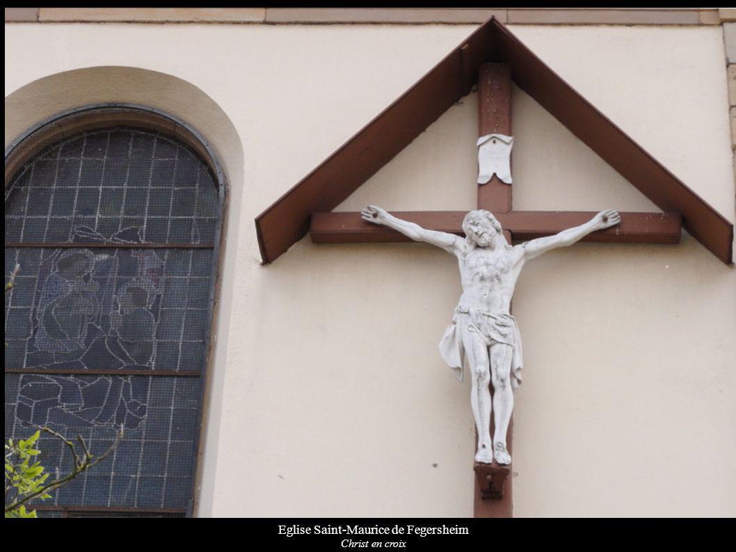 Eglise Saint-Maurice de Fegersheim Christ en croix