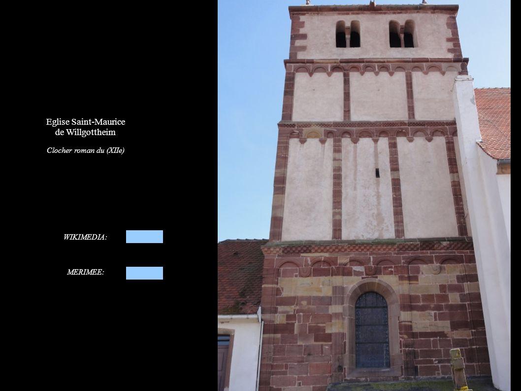 Eglise Saint-Maurice de Willgottheim Mur de soutènement du cimetière vers le village