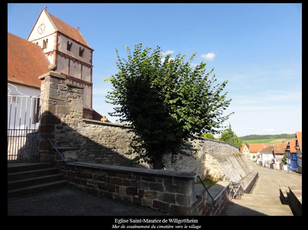 Eglise Saint-Maurice de Willgottheim Autel secondaire « 14 intercesseurs » (XVIIIe) et maître-autel