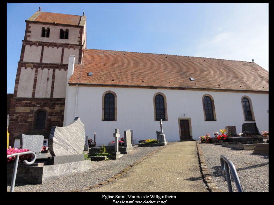 Eglise Saint-Maurice de Willgottheim Façade sud de la nef