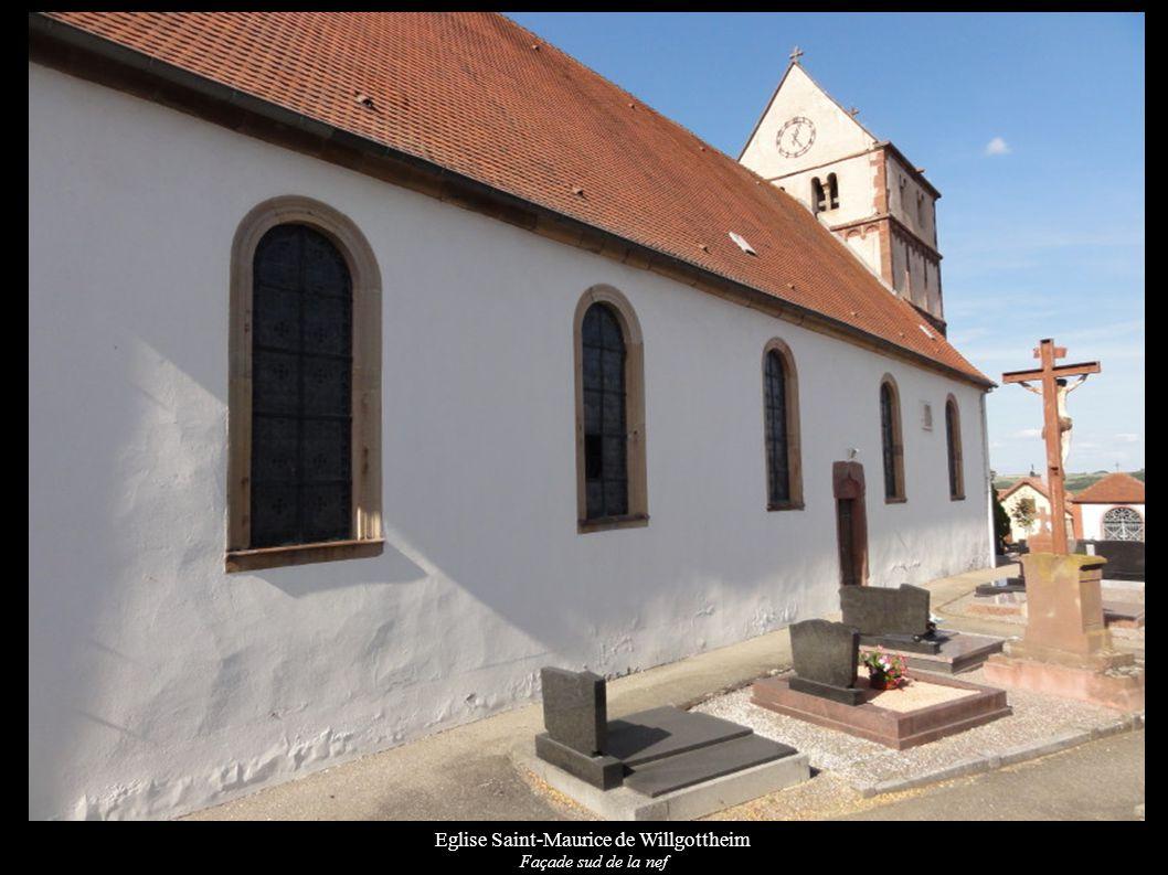 Eglise Saint-Maurice de Willgottheim Retable avec statue « Vierge à l enfant » (XVIe)