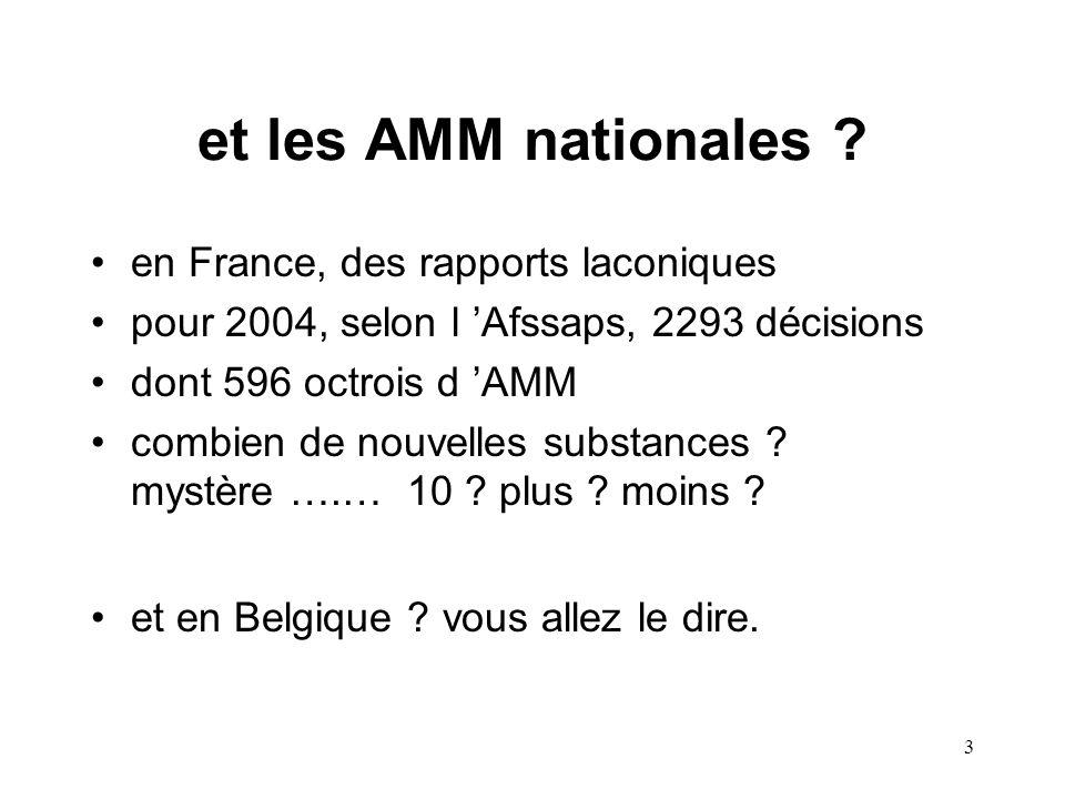3 et les AMM nationales .