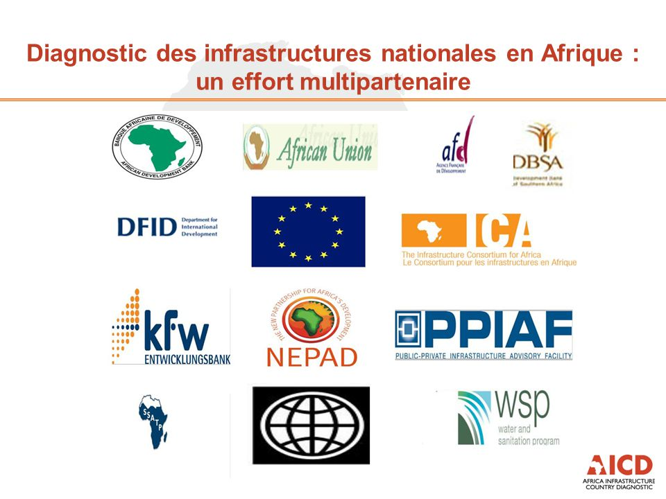 Diagnostic des infrastructures nationales en Afrique : un effort multipartenaire