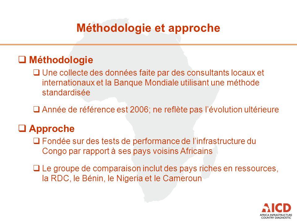 Méthodologie et approche  Méthodologie  Une collecte des données faite par des consultants locaux et internationaux et la Banque Mondiale utilisant