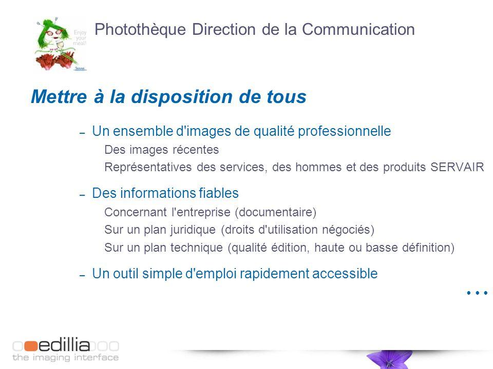 Photothèque Direction de la Communication Mettre à la disposition de tous – Un ensemble d'images de qualité professionnelle Des images récentes Représ