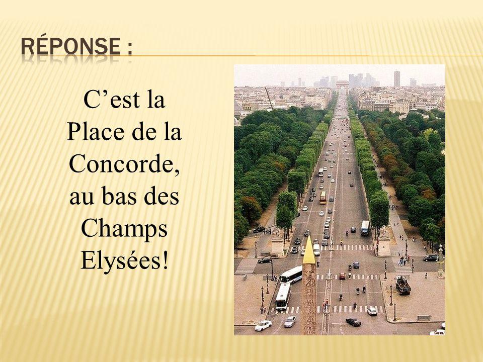 C'est la Place de la Concorde, au bas des Champs Elysées!