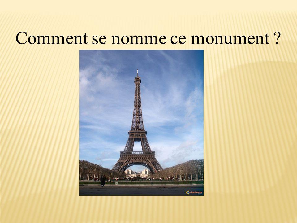 Comment se nomme ce monument