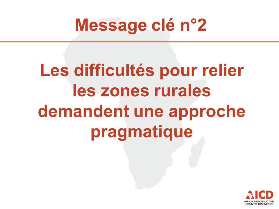 Message clé n°2 Les difficultés pour relier les zones rurales demandent une approche pragmatique
