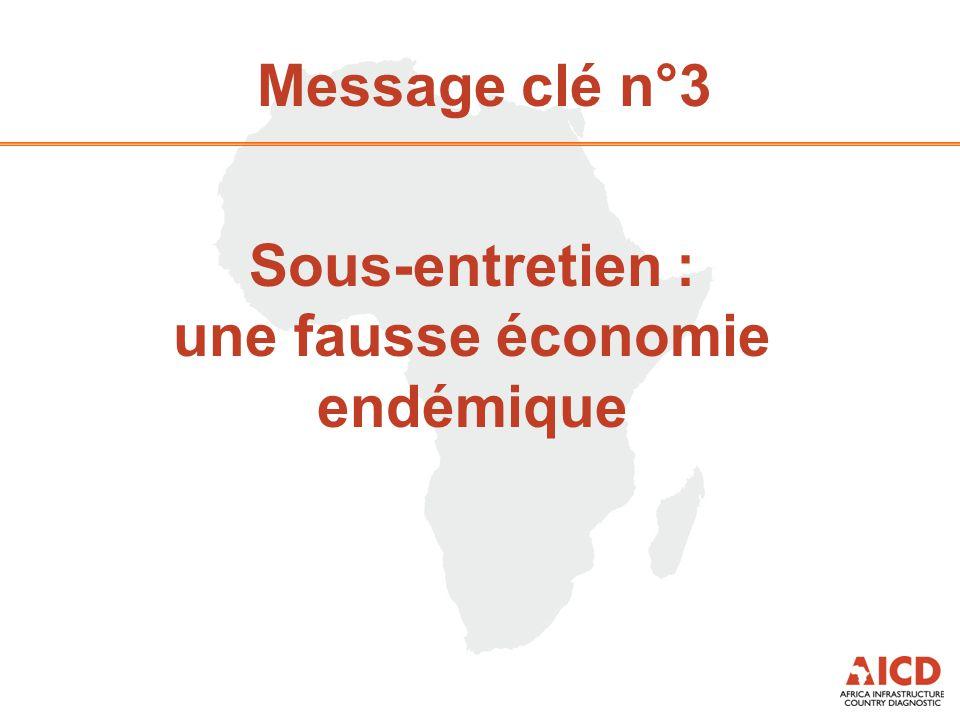Message clé n°3 Sous-entretien : une fausse économie endémique