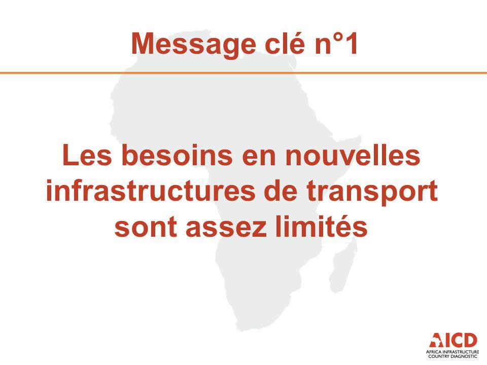 Message clé n°1 Les besoins en nouvelles infrastructures de transport sont assez limités