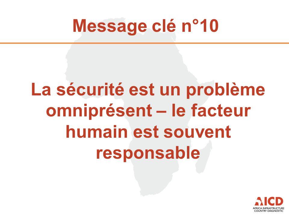 Message clé n°10 La sécurité est un problème omniprésent – le facteur humain est souvent responsable
