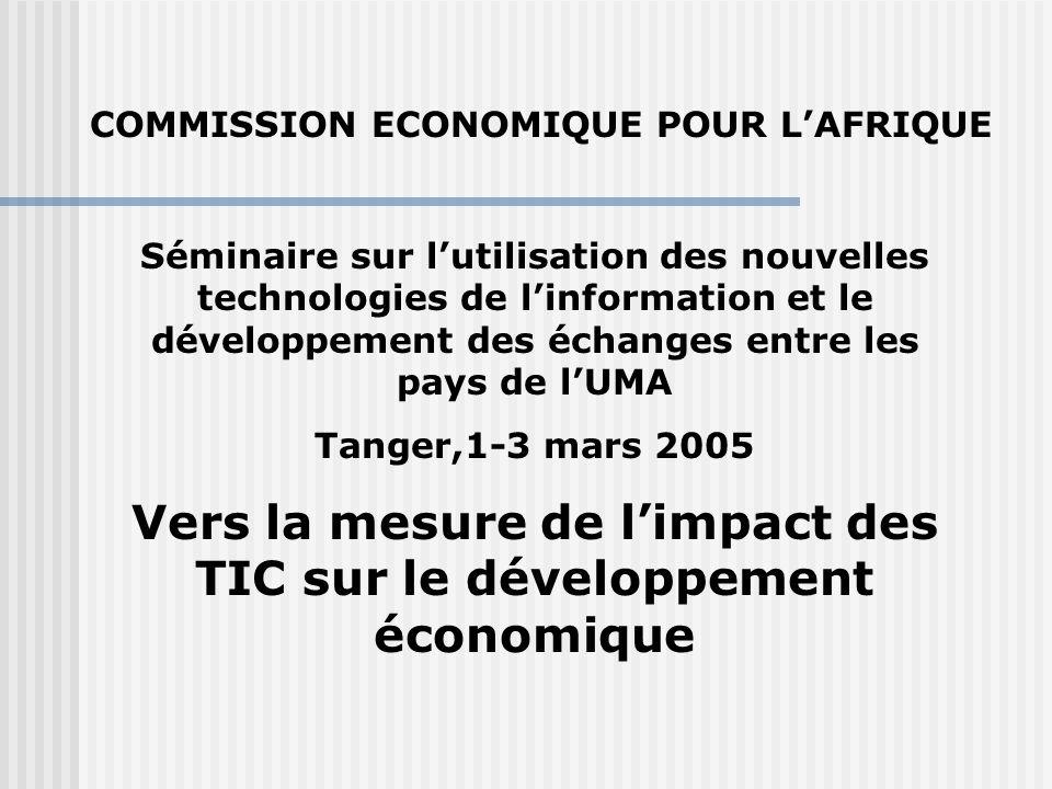 Séminaire sur l'utilisation des nouvelles technologies de l'information et le développement des échanges entre les pays de l'UMA Tanger,1-3 mars 2005