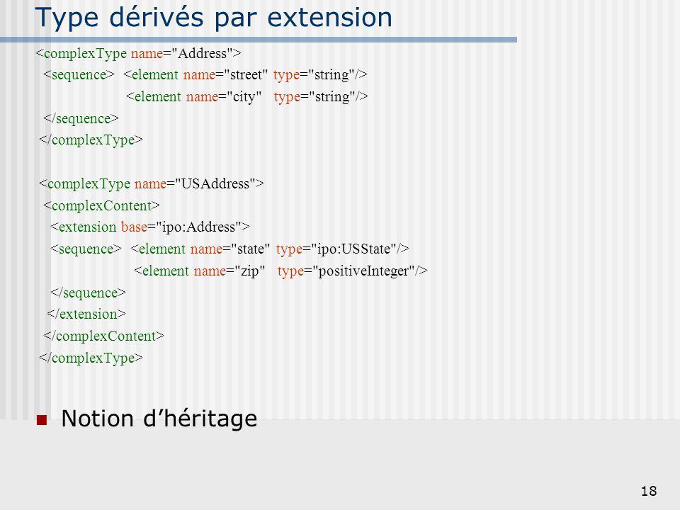 19 Type dérivés par extension, 2 Exemple : 2918