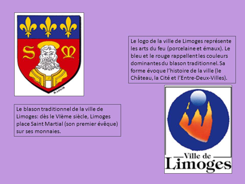 Le blason traditionnel de la ville de Limoges: dès le VIème siècle, Limoges place Saint Martial (son premier évêque) sur ses monnaies. Le logo de la v