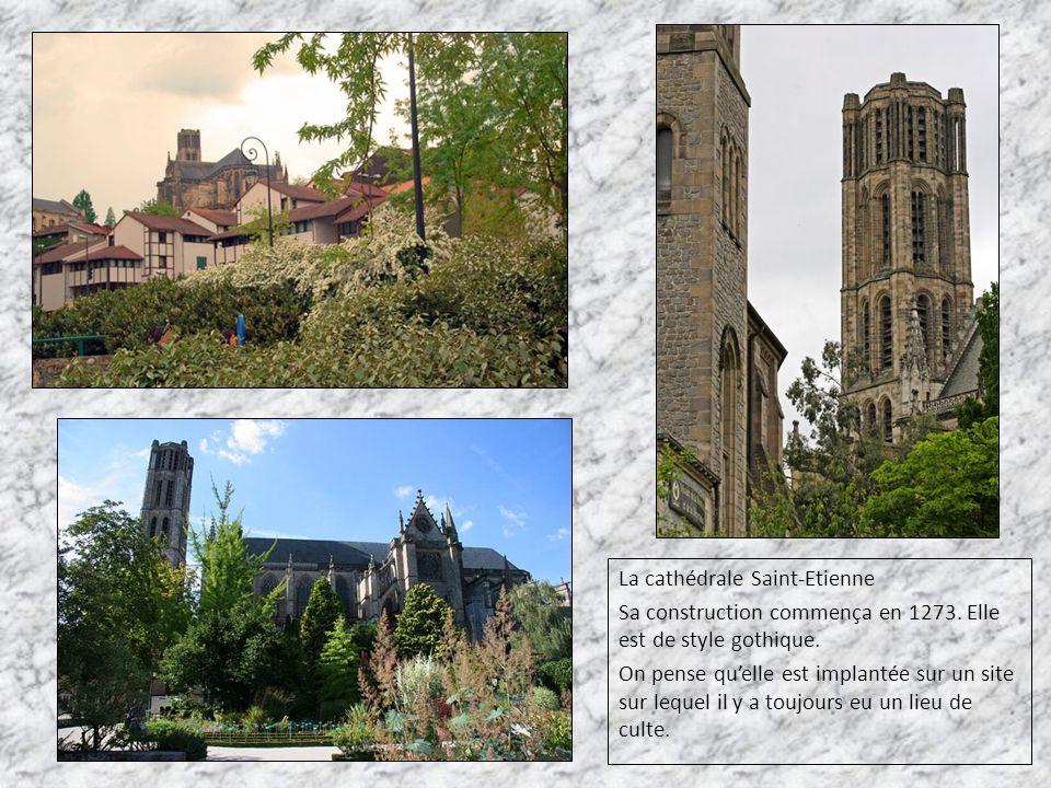 La cathédrale Saint-Etienne Sa construction commença en 1273. Elle est de style gothique. On pense qu'elle est implantée sur un site sur lequel il y a
