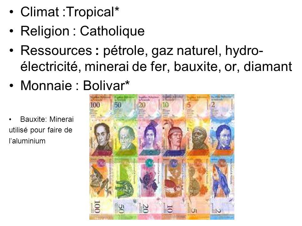 2) Géographie Localisation : Le Vénézuela est situé au nord de l'Amérique du Sud, en bordure de la mer des Caraïbes et de l océan Atlantique, entre la Colombie et le Guyana.
