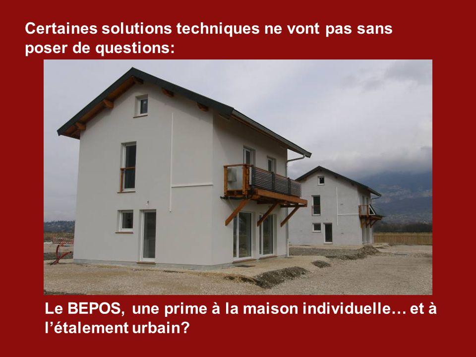 Le BEPOS, une prime à la maison individuelle… et à l'étalement urbain.