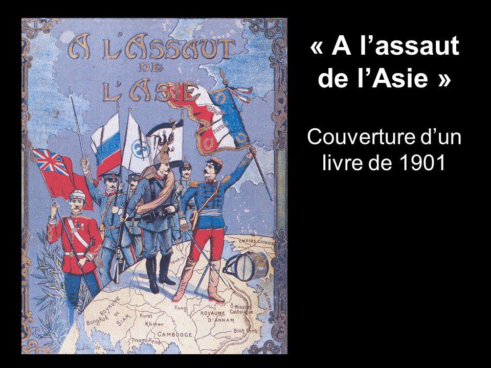 « A l'assaut de l'Asie » Couverture d'un livre de 1901
