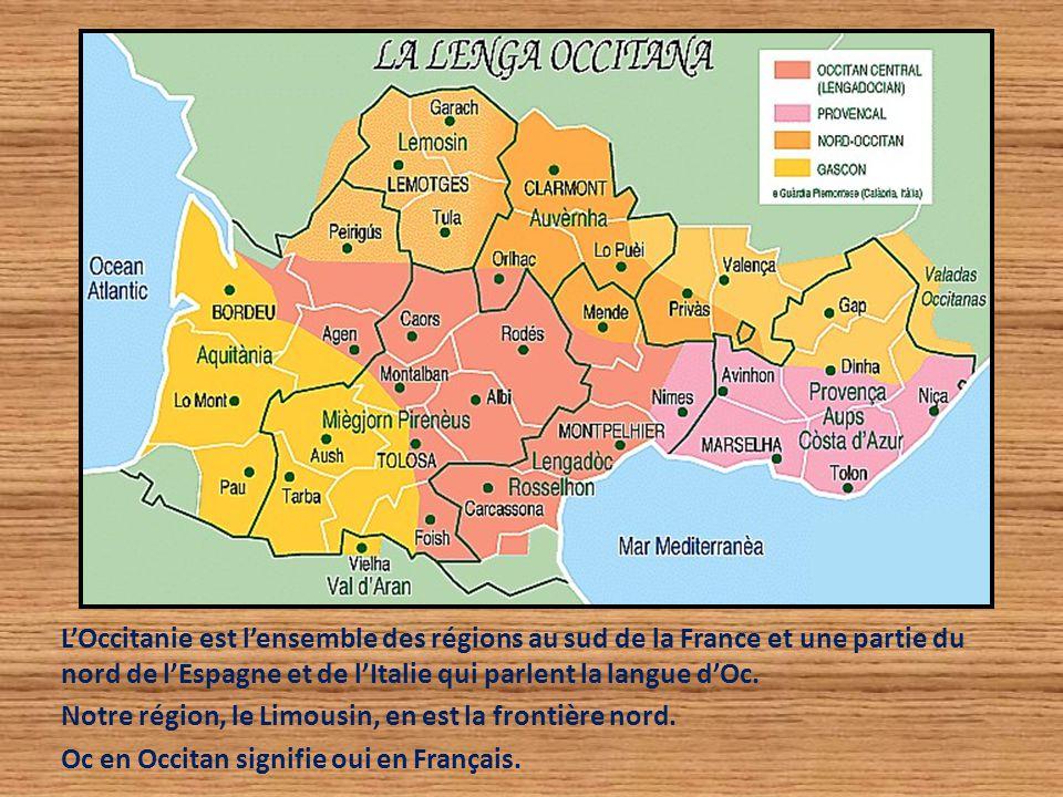 L'Occitanie est l'ensemble des régions au sud de la France et une partie du nord de l'Espagne et de l'Italie qui parlent la langue d'Oc. Notre région,