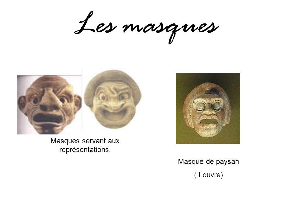 Masques servant aux représentations. Masque de paysan ( Louvre) Les masques