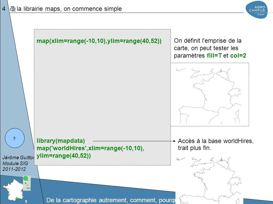 Jérôme Guitton Module SIG 2011-2012 De la cartographie autrement, comment, pourquoi ? 36 Fin...