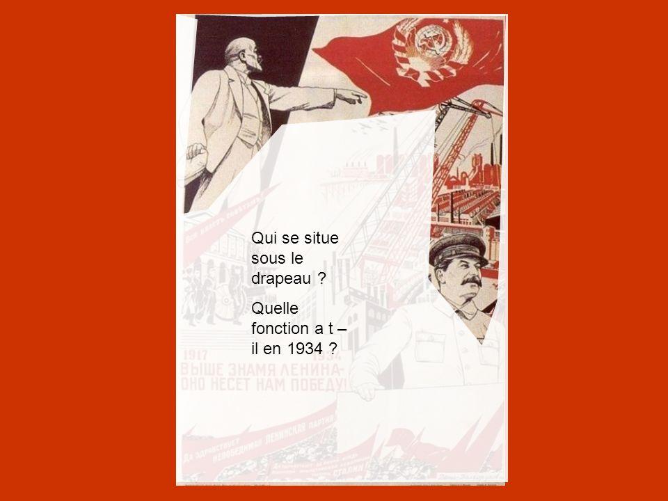 Cette affiche veut montrer l'héritage entre Lénine et Staline qui poursuit l'action de Lénine Staline, le regard tourné vers l avenir, appuyé sur le balcon du mausolée de Lénine