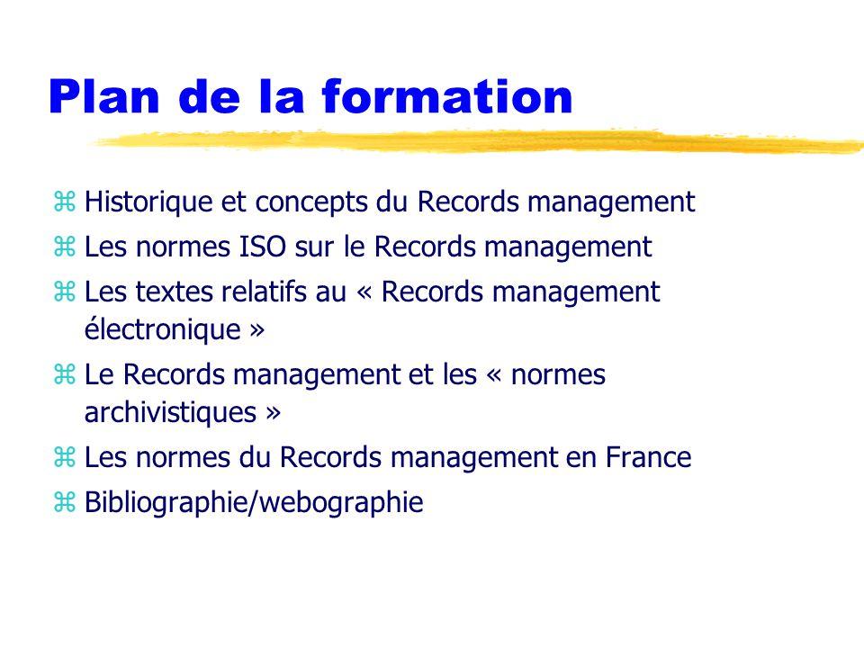 Caractéristique du système d'archivage z Records management system yFiabilité yIntégrité yConformité yÉtendue yCaractère systématique