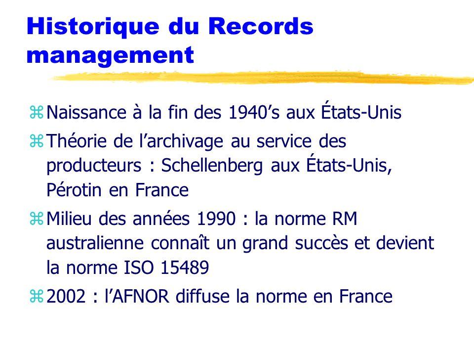 Le Records management et les « normes archivistiques »
