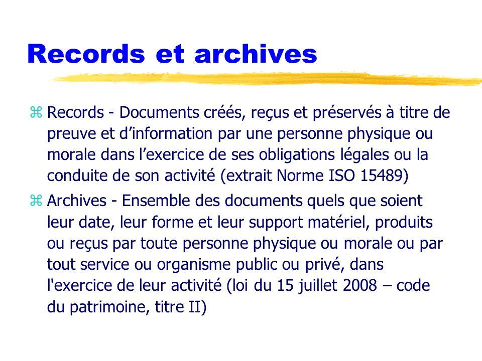 Bibliographie zDocumentaliste - Sciences de l'information, dossier « Records management : gérer les documents et l information.
