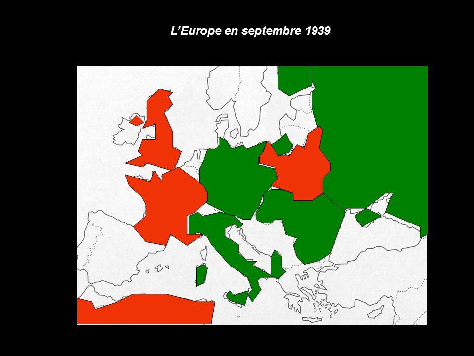 1 er sept 1939 1939-1941 : les forces de l'Axe victorieuses Invasion en Mai/juin 1940 Plan Barbarossa en Juin 1941 Invasion en Septembre 1939 Pays de l'Axe et leurs alliés Pays conquis par les forces de l'Axe Offensives de l'Axe (nom et date) Pays Alliés Offensives de l'Axe (nom et date)
