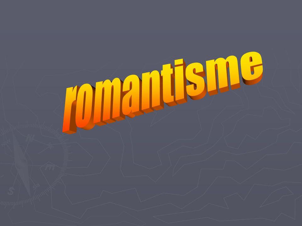 Le romantisme est le nom donné à un mouvement européen qui se manifeste en France, sous la Restauration et la monarchie de Juillet, par réaction contre la régularité classique Il est une réaction du sentiment contre la raison ; cherchant l évasion dans le rêve, dans l exotisme ou le passé.