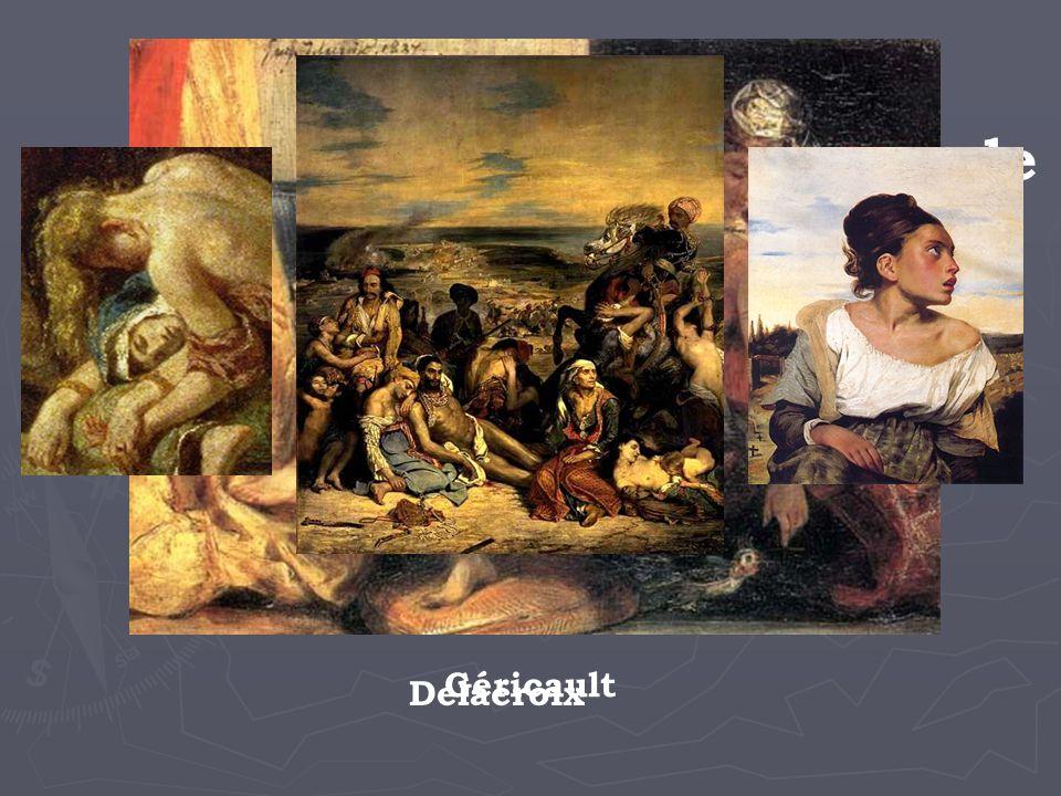 Cette nouvelle façon de percevoir et de décrire le monde influence aussi les peintres… Géricault Delacroix