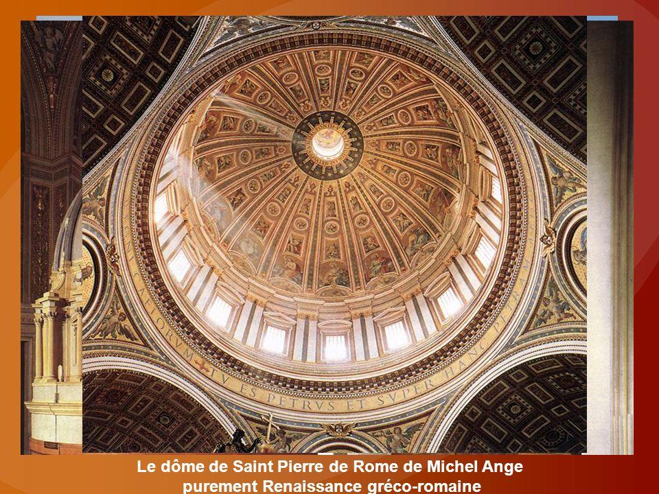 Le dôme de Saint Pierre de Rome de Michel Ange purement Renaissance gréco-romaine