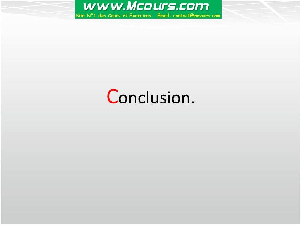 C onclusion.