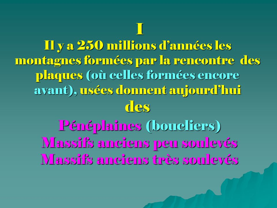 Pénéplaines (ou boucliers)