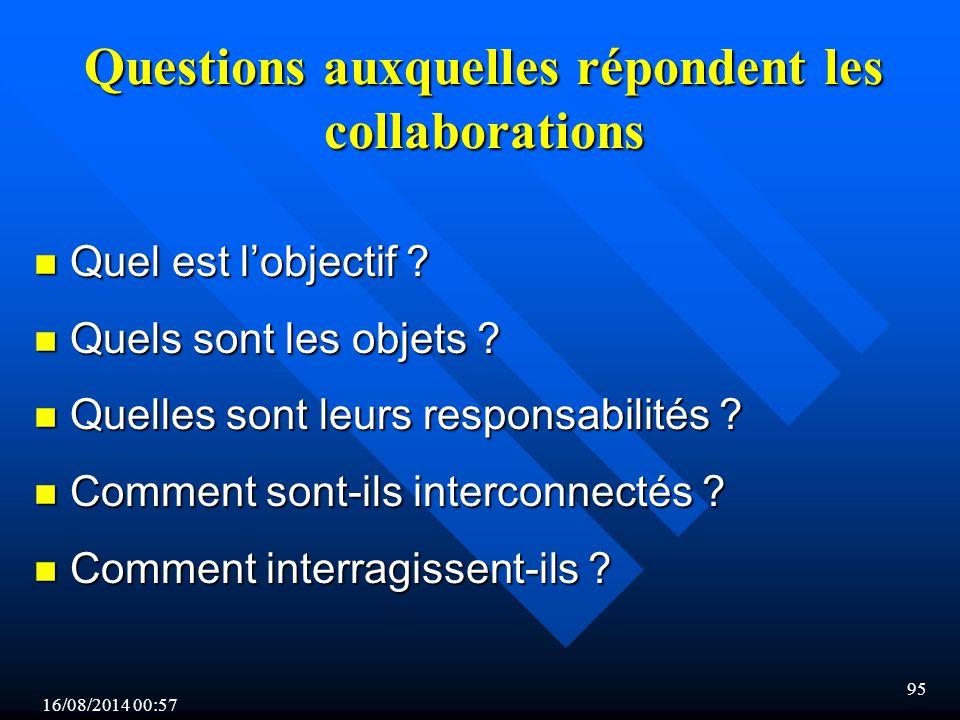 16/08/2014 00:59 95 Questions auxquelles répondent les collaborations n Quel est l'objectif .