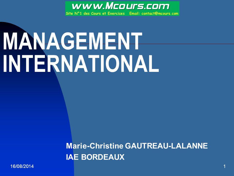 16/08/20142 BIBLIOGRAPHIE O.MEIER.Management interculturel.