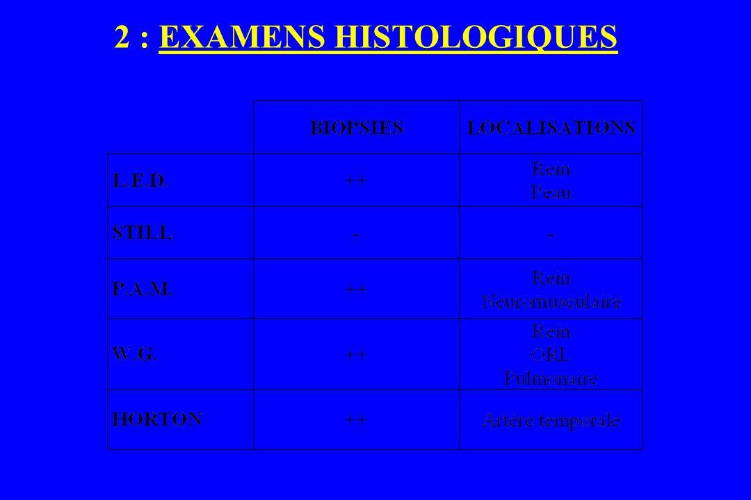 2 : EXAMENS HISTOLOGIQUES