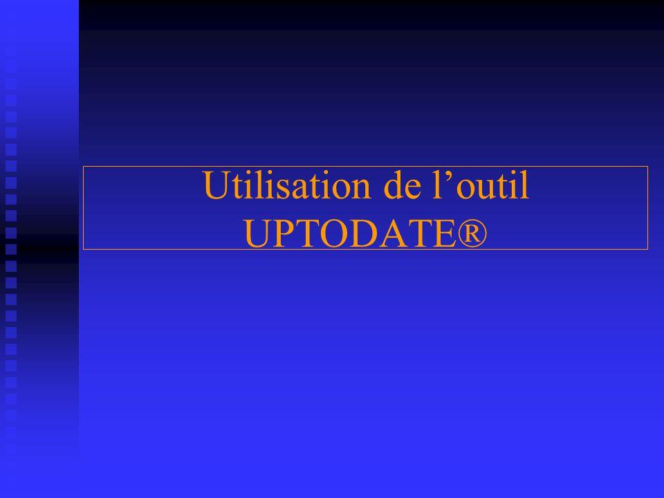 Utilisation de l'outil UPTODATE®