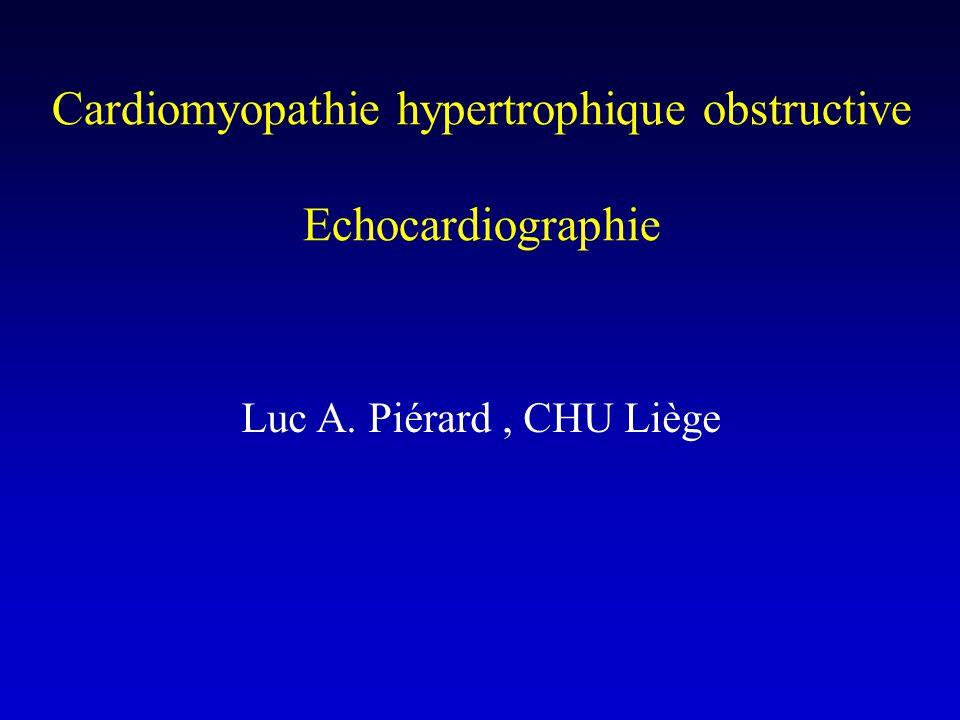 TRAITEMENT DE L 'OBSTRUCTION SYMPTOMATIQUE - Chirurgie : myotomie + myectomie septale haute - Alcoolisation de la première septale :.