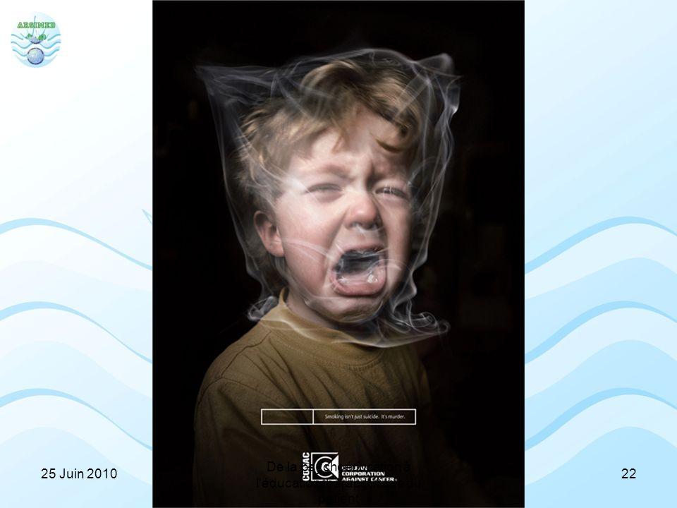 Prévention tabac 2225 Juin 2010 De la psychoéducation à l'éducation thérapeutique du patient